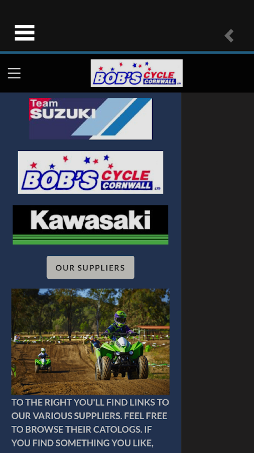 BOB'S CYCLE CORNWALL LTD- screenshot