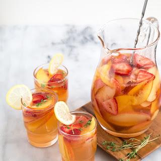 Strawberry Peach Sangria.