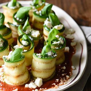 Grilled Zucchini Roll Ups with Feta Recipe