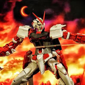 Gundam red Astray by Nico Ariyanto - Artistic Objects Toys ( sony, toy, 85mm, toys, gundam )