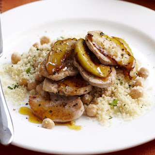 Spiced Pork Tenderloin with Caramelized Apples and Couscous Recipe