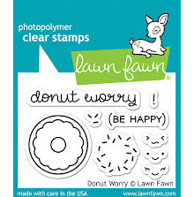 Lawn Fawn Clear Stamps 3X2 - Donut Worry