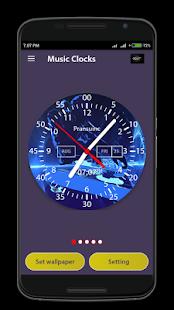 Music Clock Live Wallpaper & Widget - náhled