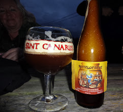 Photo: enjoying the outdoors in October in Belgium and some great beer - Life is Good!