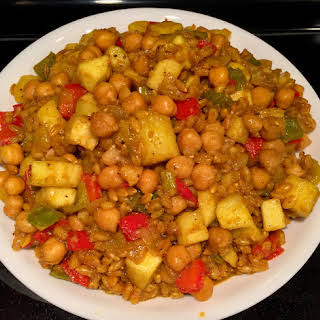 Apple-Barley Chickpea Curry.