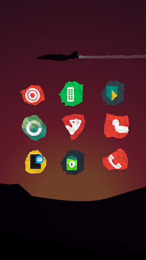 Paper Icon Pack app for Android screenshot