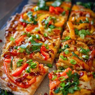 Thai BBQ Chicken Pizza.