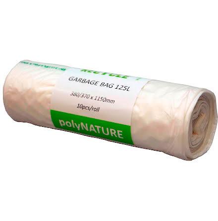 Sopsäck Polynature 125l vit 10