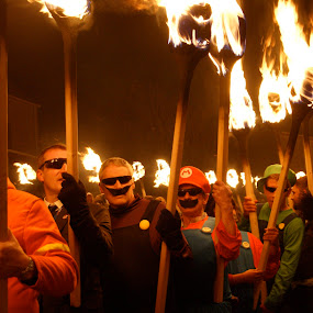 Squads by Maggie Adamson - People Street & Candids ( scotland, torch, up helly aa, shetland,  )