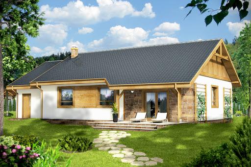 projekt Julek z garażem 1-st. A