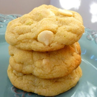 White Chocolate Lime Macadamia Cookies