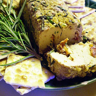 Herb-and-Nut-Encrusted Cheese Log [Vegan]