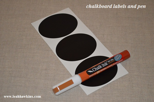 chalkboard labels and pen