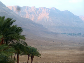 Photo: A mountain range near the Dead Sea.