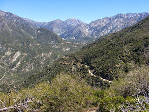 Photo: View east toward north flank of Sunset Peak and Glendora Ridge Road