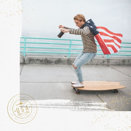 Fourth of July Longboard - Instagram Post Template