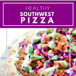 Healthy Southwest Pizza.