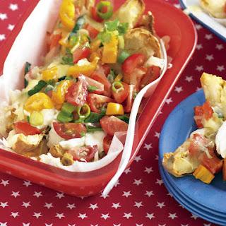 Cheesy Potato Skins with Tomato Salsa