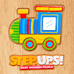 Step Ups! - Wooden Puzzle for kids APK