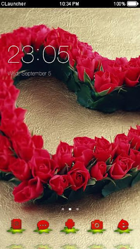 Roses Heart Theme C Launcher