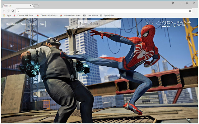 Marvel Spider Man Ps4 Hd Wallpaper New Tab Free Addons