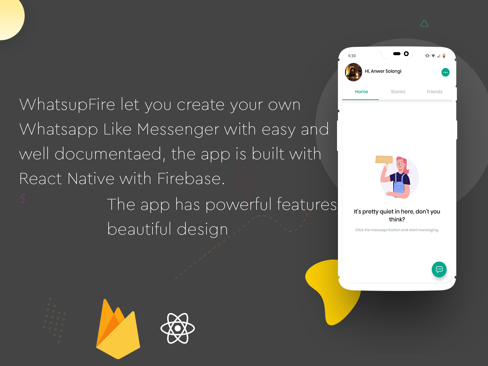 WhatsupFire - React Native Messenger - 2