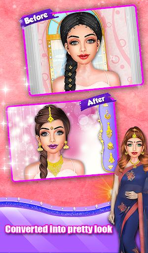 Indian Wedding Saree Designs Fashion Makeup Salon  screenshots 15