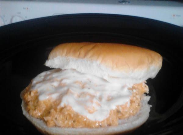 Crockpot Buffalo Chicken Sandwiches Recipe