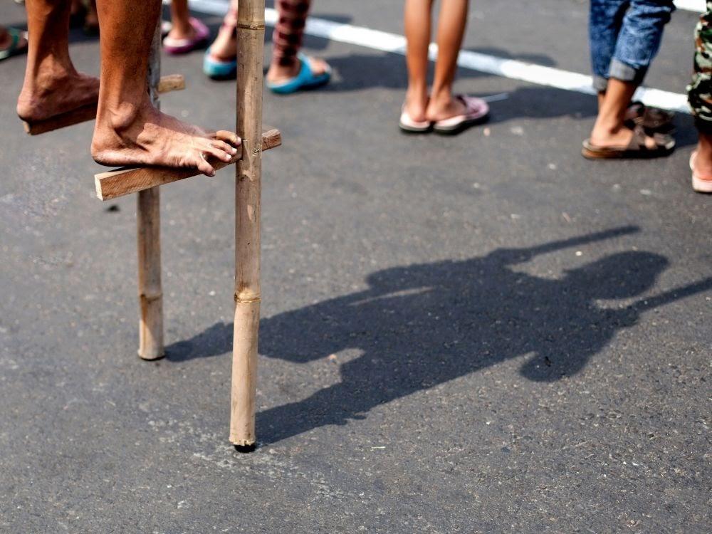 Egrang (Stilt) traditional game