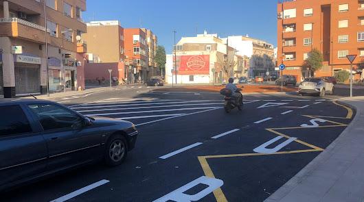 Abre al tráfico una nueva rotonda de más de 30 metros de diámetro en Los Molinos