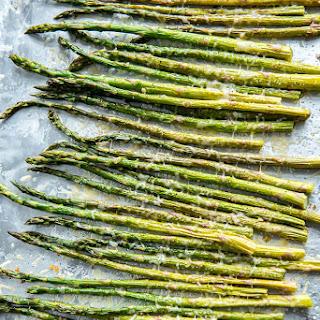 Oven Roasted Garlic Parmesan Asparagus.