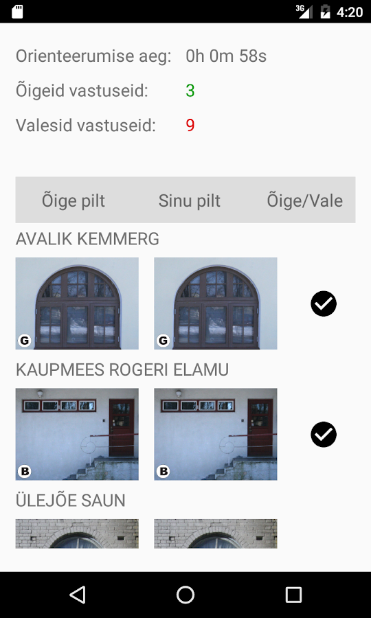 Photo-orientation in Pärnu- screenshot