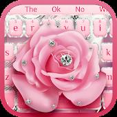 Tải Bạc Glitter Diamond Rose Chủ đề bàn phím miễn phí