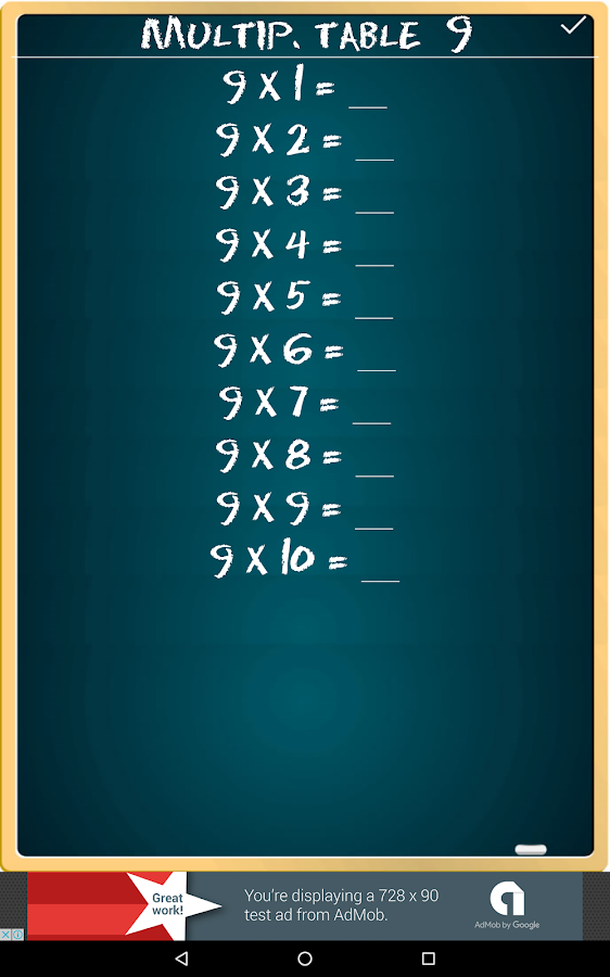 Multiplication Table FREE- screenshot