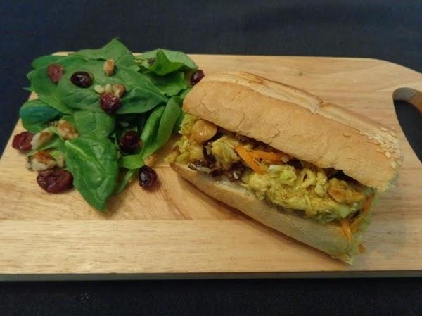 Curry Chicken Cole Slaw Sandwich Recipe