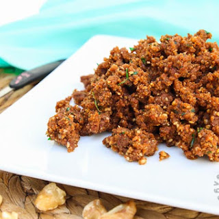 Savory Walnut Sun-Dried Tomato Crumble.
