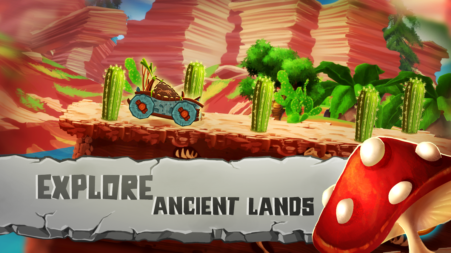 Prehistoric Run Racing- screenshot