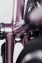 Photo: Bottom bracket with webbed chainstay bridge and Di2 battery mount.