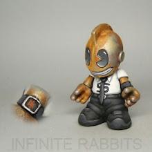 "Photo: Kid Payola. Gonna make big money playing rock & roll. 3"" Bot, available at http://infiniterabbits.storenvy.com/"