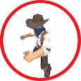 AR fighting cowboy Fighter icon