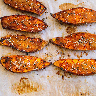 Ginger And Miso Sweet Potato With Wild Rice.