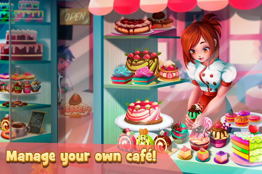Dessert Chain: Café Waitress & Restaurant Chef for PC