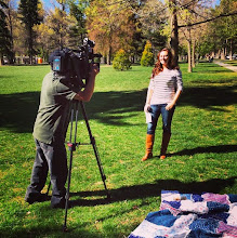 Photo: 4.13.15 Fearless Defense local tv interview about street harassment in Utah