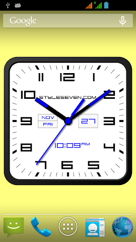 android Square Clock Android-7 PRO Screenshot 0