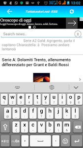 Tutto Basket.net - RSS screenshot 0