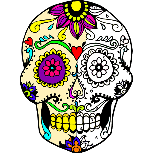 Tattoo Color by Number : Adult Coloring Book Pages Icon