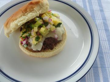 Garlic Avocado Aioli Mango Salsa Burger Recipe
