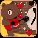Brown Hairy Love Bear Theme icon
