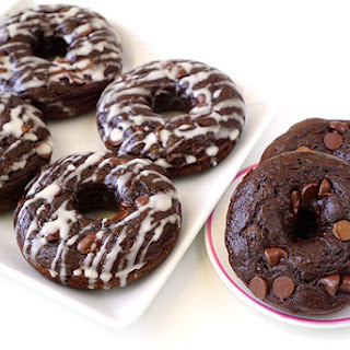 Double Chocolate Zucchini Cake Donuts.