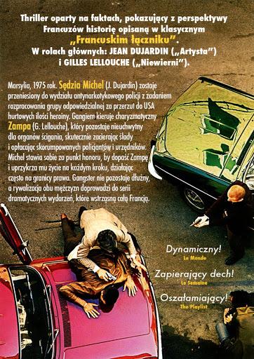 Tył ulotki filmu 'Marsylski Łącznik'
